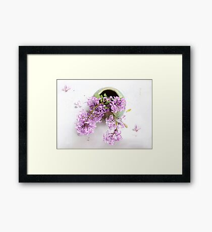 Lilacs in a Green Vase Framed Print