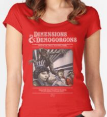 Dimensions & Demogorgons Women's Fitted Scoop T-Shirt