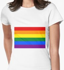 Gay Pride Rainbow Flag Women's Fitted T-Shirt