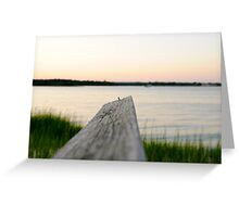 dock over quogue sunset Greeting Card