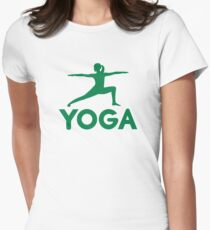 Yoga sports woman Women's Fitted T-Shirt