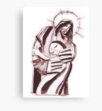 Jesus Christ hugging a woman Canvas Print