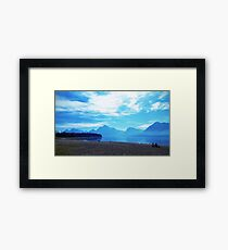 WYGT lake Framed Print