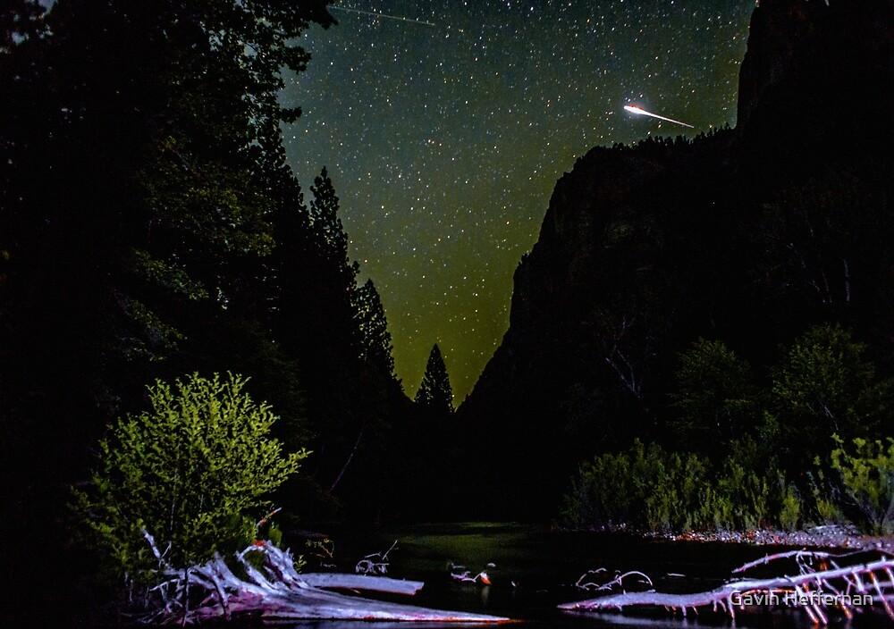 Meteor Shooting Over King's Canyon Stream by Gavin Heffernan