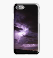 Nighttime Lightning storms iPhone Case/Skin