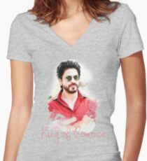 Shahrukh Khan T-shirt Women's Fitted V-Neck T-Shirt