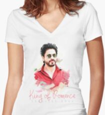 Shahrukh Khan T-shirt Women's Fitted V-Neck T-Shirt