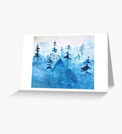 Blue Woods Duvet Greeting Card
