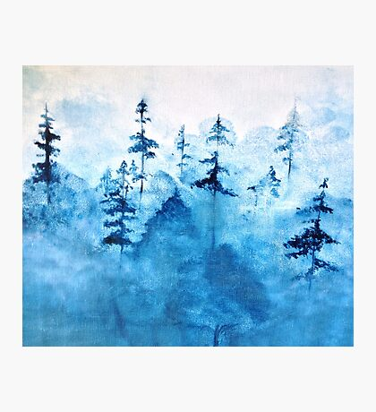Blue Woods Duvet Photographic Print