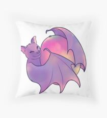 Happy fruit bat Throw Pillow