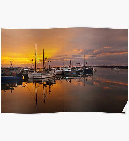 Sunrise at St Helens Wharf Poster