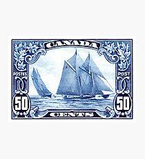 1929 Canada Schooner Bluenose Postage Stamp Photographic Print