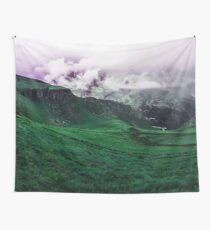 Foggy Green (Landscape Photography) Wall Tapestry