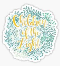 Children of the Light flores Sticker