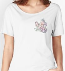 Galaxy Crystal Graphic Women's Relaxed Fit T-Shirt