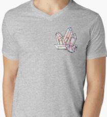 Galaxy Crystal Graphic Mens V-Neck T-Shirt