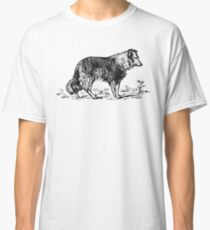 Vintage Collie - Woodcut style Classic T-Shirt