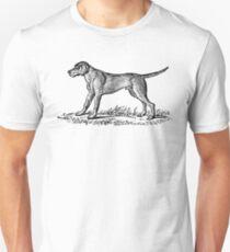 Vintage Dog 1 - woodcut style Unisex T-Shirt