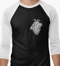 Anatomische Herz-Tinten-Illustration Baseballshirt mit 3/4-Arm