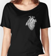 Anatomical Heart Ink Illustration Women's Relaxed Fit T-Shirt