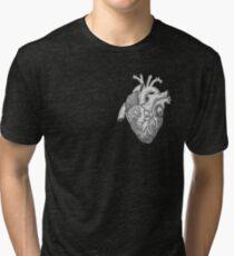 Anatomical Heart Ink Illustration Tri-blend T-Shirt