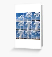 Eruption of Old Faithful Greeting Card