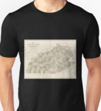 0119 Railroad Maps Map of Kentucky Tennessee exhitibing the post offices post roads canals rail roads c by David H Burr Late topographer to the Post Office Geographer to the T-Shirt