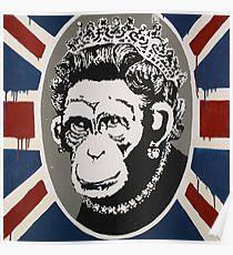 Banksy - Monkey Queen Poster