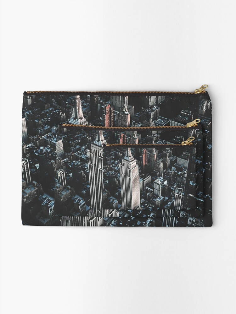 Alternate view of empire state building in nyc Zipper Pouch