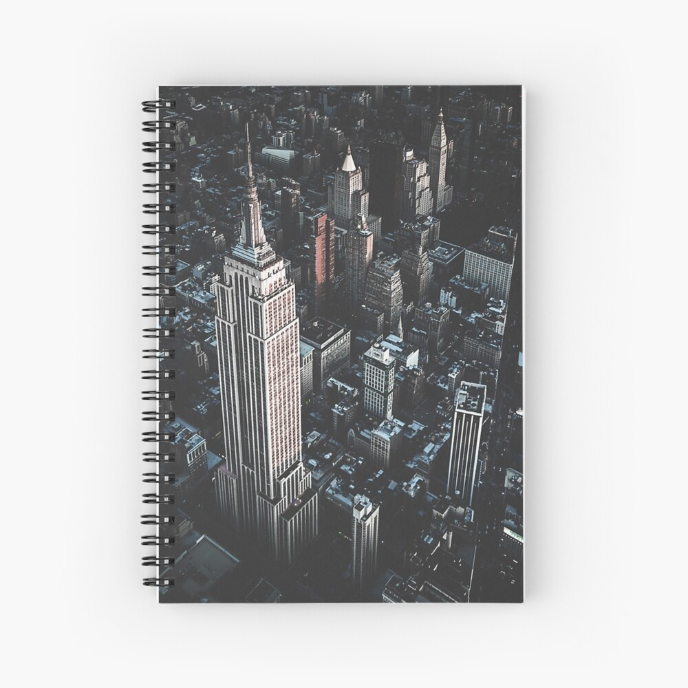 empire state building in nyc Spiral Notebook