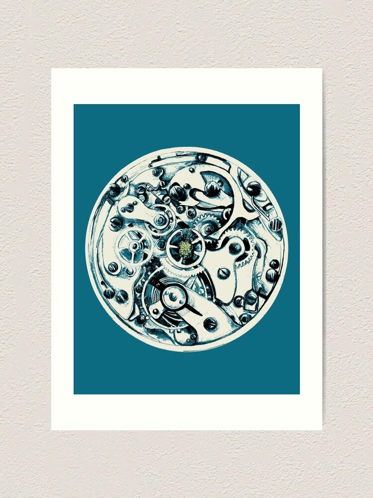 Alternate view of Clockwork Pineapple Art Print