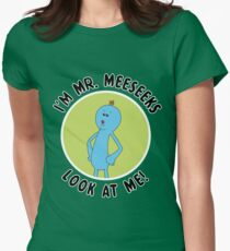 Mr. Meeseeks Rick and Morty Womens Fitted T-Shirt