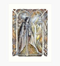 Lady of the elven city Art Print