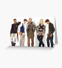 Men from Throne of Glass Greeting Card