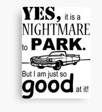 Cadillac Parking Canvas Print