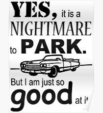 Cadillac Parking Poster