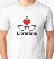 I Heart Librarians Unisex T-Shirt