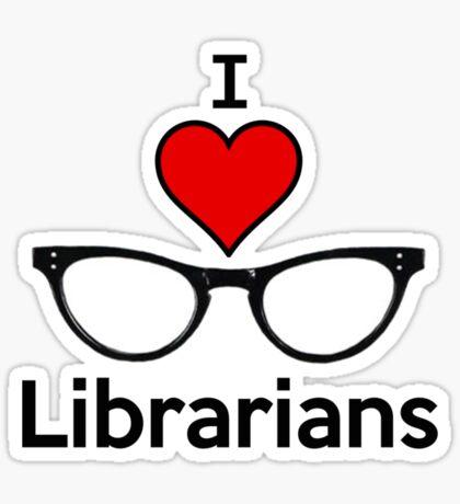 I Heart Librarians Sticker