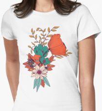 Camiseta entallada para mujer Patrón botánico 010
