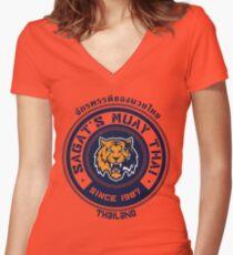 Sagat's Muay Thai 2 Women's Fitted V-Neck T-Shirt