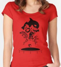Bouncing Animals Women's Fitted Scoop T-Shirt