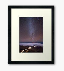 Mauna Kea Night Lines Framed Print