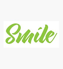 SMILE (in green) Photographic Print