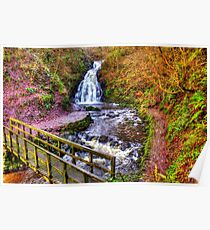 Glenoe Waterfall Poster