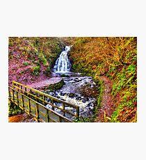 Glenoe Waterfall Photographic Print