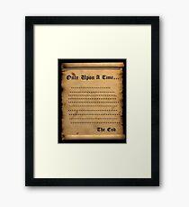 Once....... Framed Print