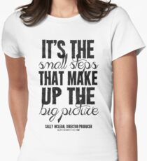 Small Steps Big Picture Black Text T-shirts & Homewares Women's Fitted T-Shirt