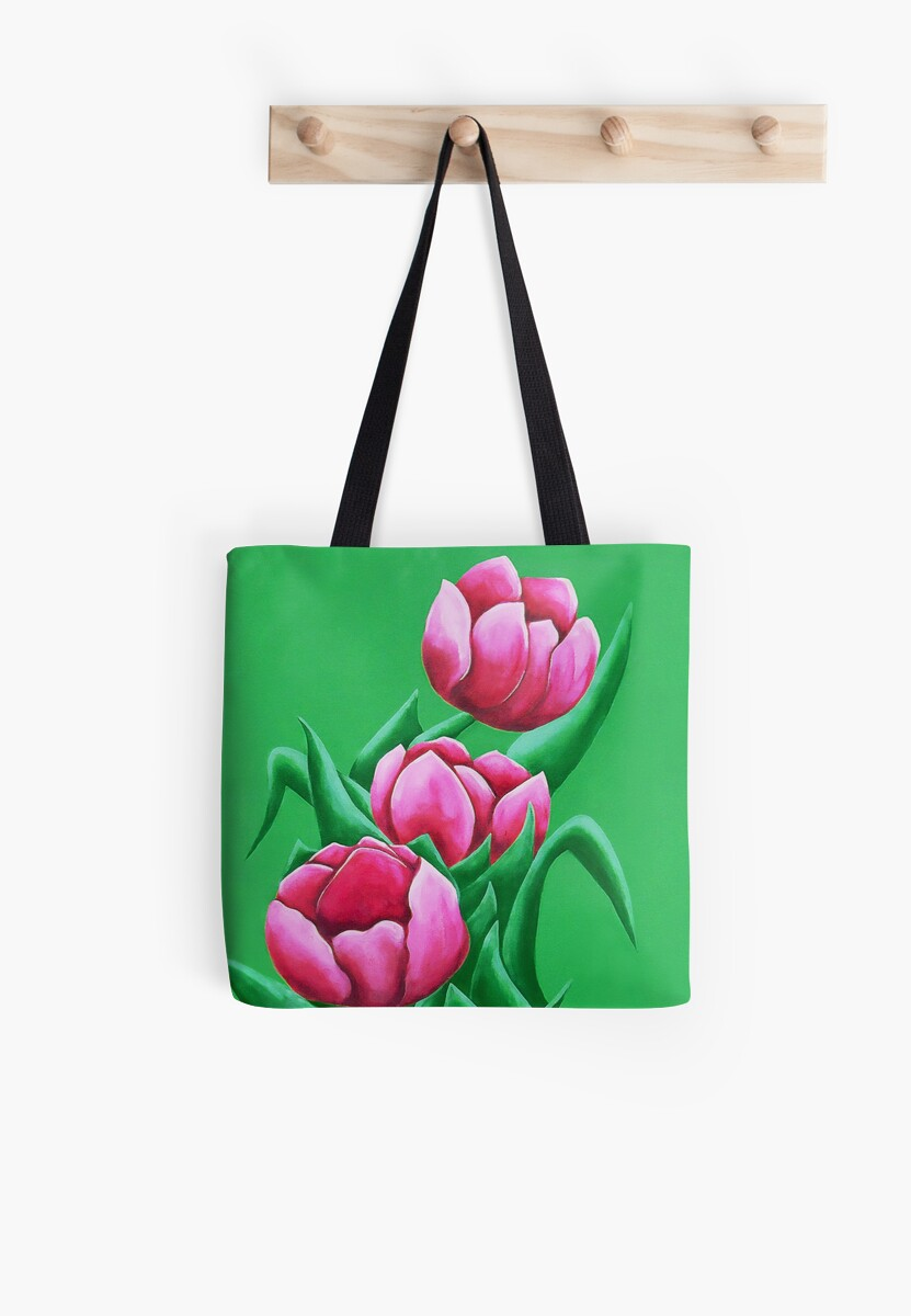 pink tulips by scottimages