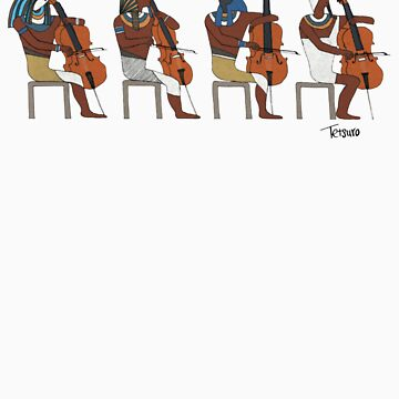 Ancient Cellists by tetsurohoshii