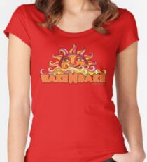 Wake & Bake  Women's Fitted Scoop T-Shirt